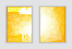 Vector Schablonenplan für Broschüre, Zeitschrift, Flieger oder Bericht Stockbilder