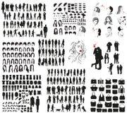 Vector Schattenbilder von Kleidung, von Männer ` s und Frauen ` s von Zubehör Lizenzfreie Stockbilder