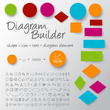 Vector schema diagram builder set Royalty Free Stock Images