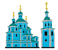 Vector scheme for embroidery Resurrection Cathedral in Sumy Royalty Free Stock Image