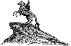 De Ruiter van het brons stock illustratie