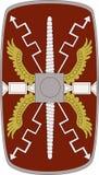 Vector Schild von Legio XIIII Gemina auf weißem Hintergrund Stockbilder