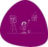 Vector schildersmeisje Royalty-vrije Stock Afbeelding