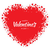 Vector Schmutz-Herz mit kleinem rotem Herz-Valentinsgruß-Tageshintergrund Stockbild