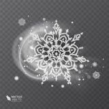 Vector Schneeflocke mit funkelnder Beschaffenheit, Hintergrund für Winter und Weihnachtsthema Schneefrosteffekt auf transparentes lizenzfreie stockfotografie