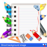 Vector school background image Royalty Free Stock Photos