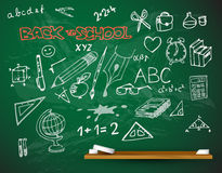 Vector school blackboard illustration royalty free illustration