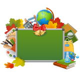 Vector School Blackboard Stock Photography