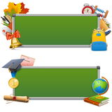 Vector School Blackboards Stock Image
