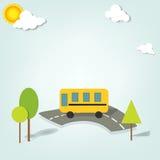 Vector school bus Stock Images