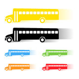 Vector school bus Stock Images