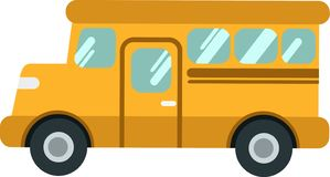 Vector school bus or shuttleon the White Blackground stock illustration