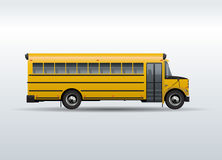 Vector school bus  on white background Stock Photos