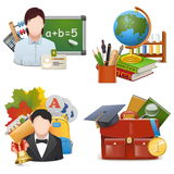 Vector School Concept Icons Set 2 Stock Image