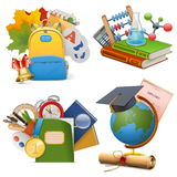 Vector School Concept Icons Stock Photos