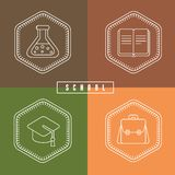 Vector school design elements Stock Photos