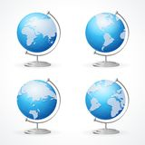 Vector school Globe set isolated on white Stock Photography