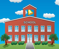 Vector school house. Vector illustration of a big school house Stock Photography