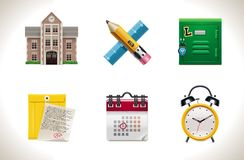 Vector school icons. Part 1 Stock Photos