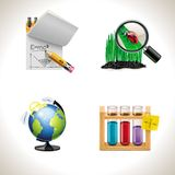 Vector school icons. Part 3. Set of the school and education related icons Stock Photos