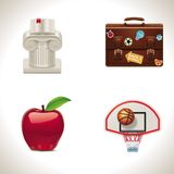 Vector school icons. Part 4 Royalty Free Stock Photos
