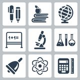 Vector school icons set Royalty Free Stock Photo