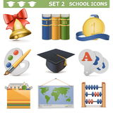 Vector School Icons Set 2 Stock Image