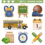 Vector School Icons Set 1 Stock Photos