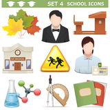 Vector School Icons Set 4 Stock Photo