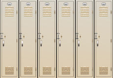 Vector school lockers Stock Photo