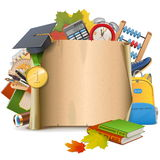 Vector School Scroll Royalty Free Stock Photo