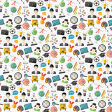 Vector school seamless pattern Royalty Free Stock Photos
