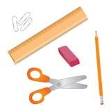 Vector school supplies Stock Photo
