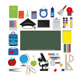 Vector school supplies Royalty Free Stock Photography