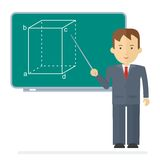 Vector school teacher man Royalty Free Stock Images