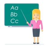 Vector school teacher woman Stock Photos