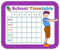 Vector school timetable Royalty Free Stock Image