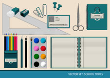 Vector School Tools Stock Photography