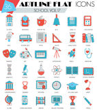 Vector School University college ultra modern outline artline flat line icons for web and apps. Stock Photos