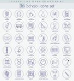 Vector school or university Outline icon set. Elegant thin line style design Stock Photos