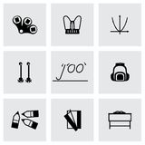 Vector Schoolbook icon set Stock Images