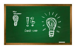 Vector Schultabelle mit neuen Ideenkonzeptbildern Stockbild