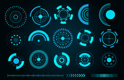 Vector sci fi futuristic user interface Royalty Free Stock Images