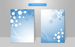 Vector science concept molecular pattern cover design background Stock Photos
