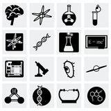 Vector Science icon set Royalty Free Stock Images