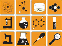 Vector,science icons set Stock Photos