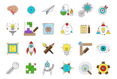 Vector science icons set. Set of 24  science icons Stock Photography