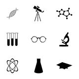Vector science icons set Stock Photo