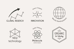 Vector science logo set Royalty Free Stock Photo