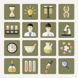Vector Science and research Web Icons Royalty Free Stock Images